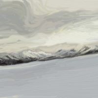 ipad artrage painting of a winter wonderland