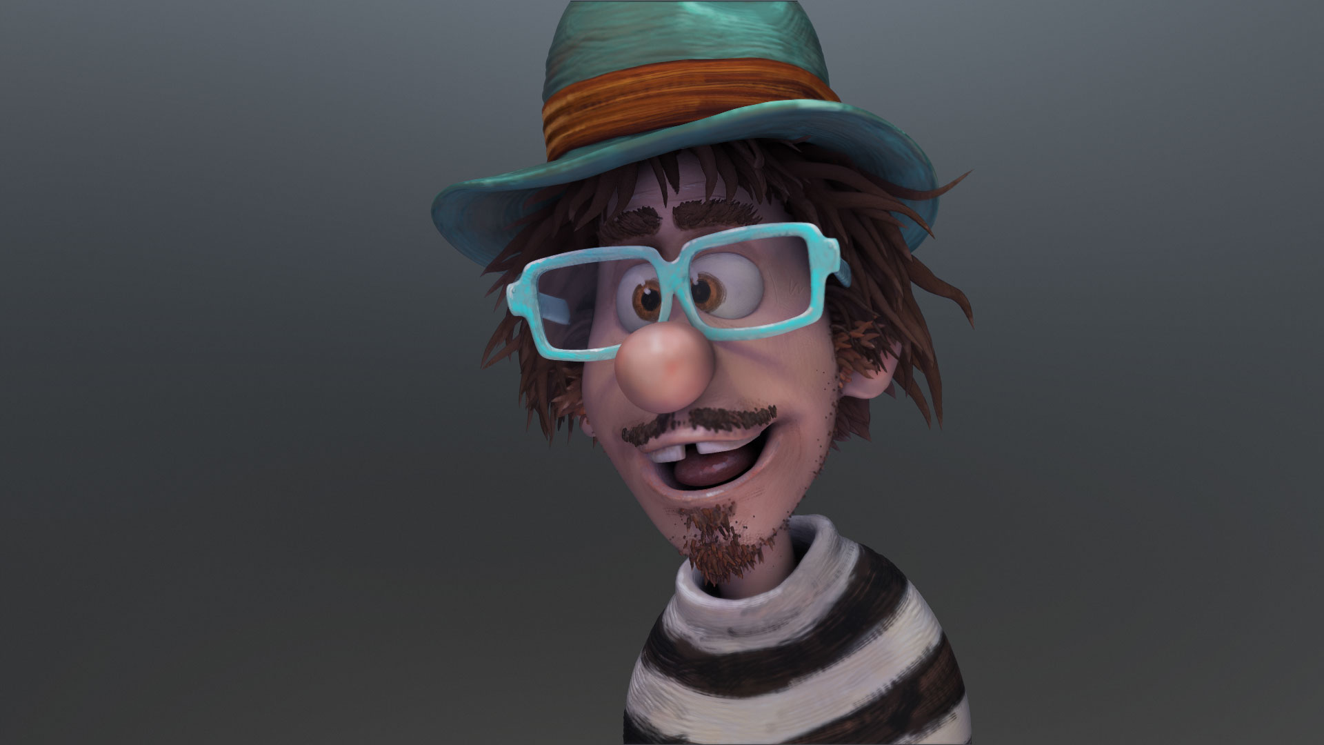zbrush cartoon sculpt of Sterling Sheehy
