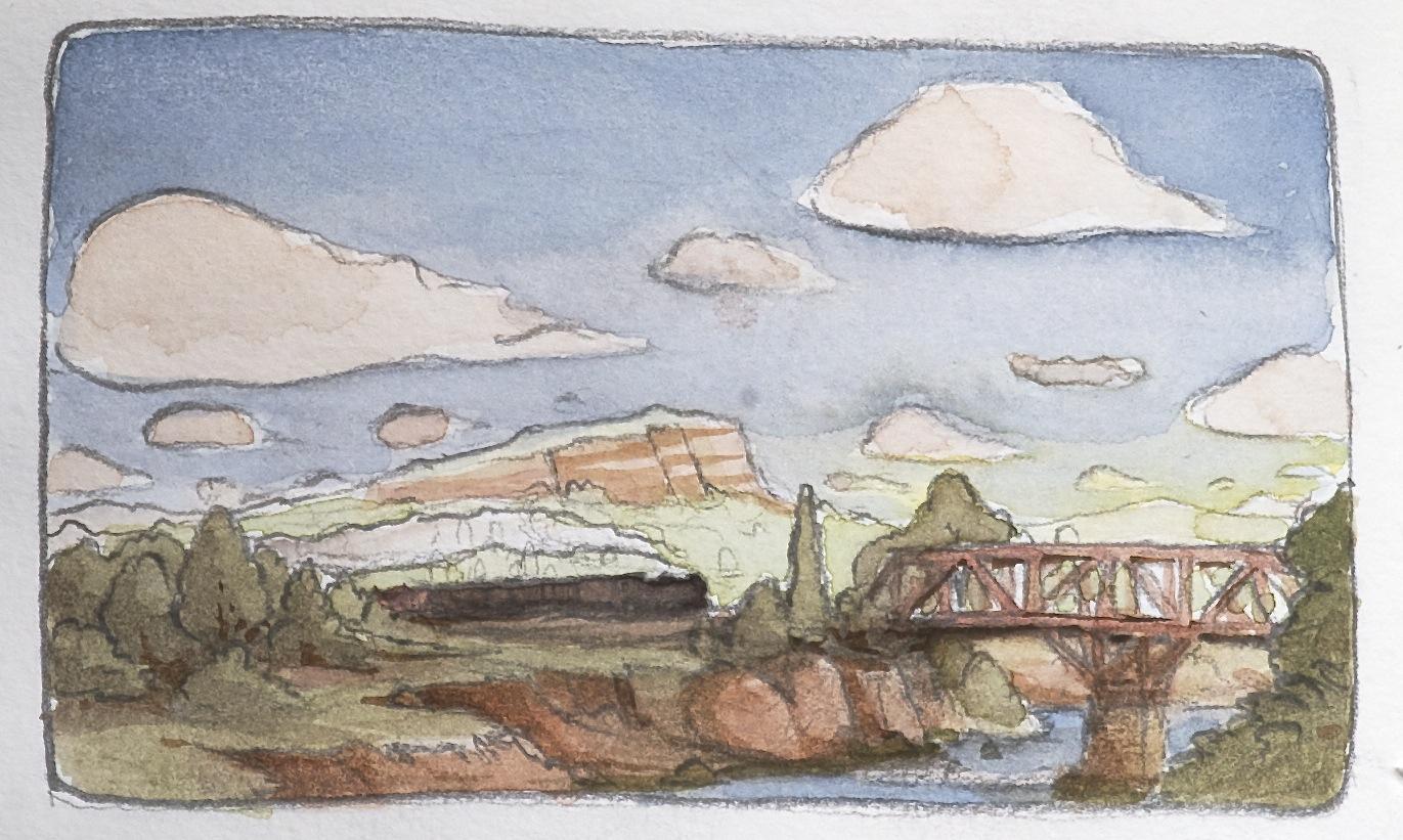 train crossing a river