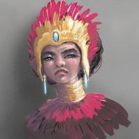 amazon queen painting