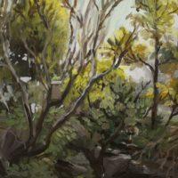 acrylic on canvas bush painting