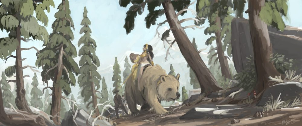 golden bear painting