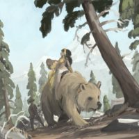 golden bear painting