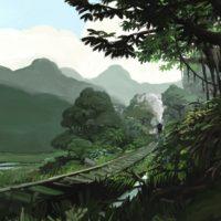 digital oil train painting