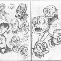 old man doodles
