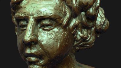 zbrush sculpt of boy