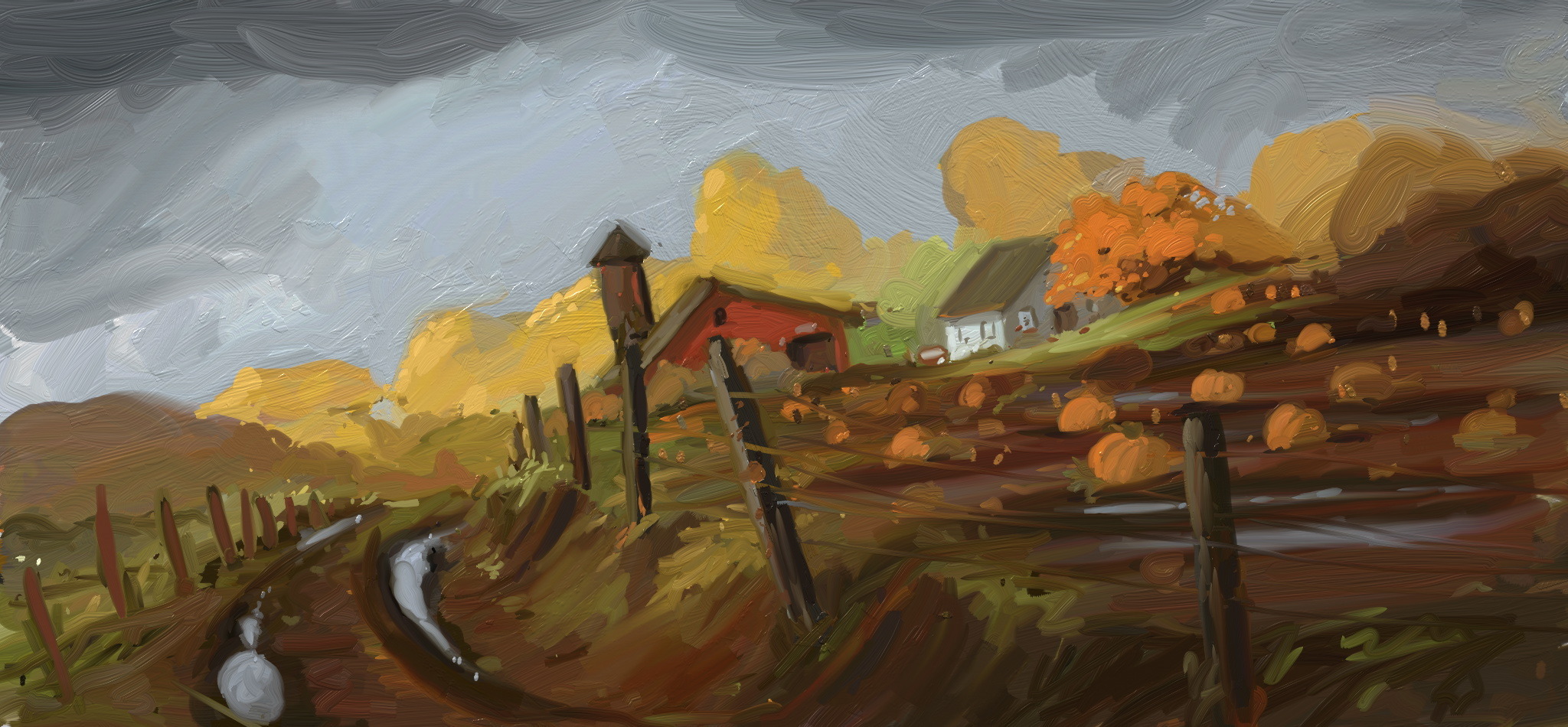 pumpkin farm digital study