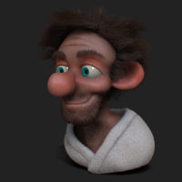 lazy bum zbrush sculp