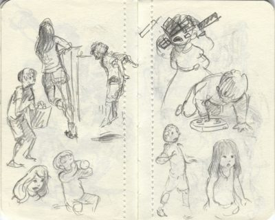 kids playing sketch