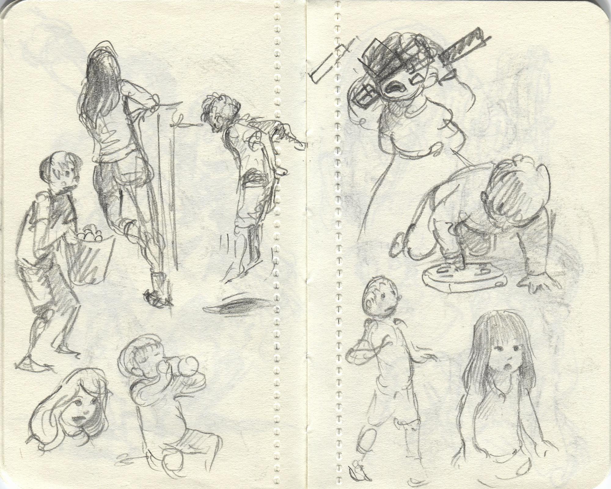 kids playing sketch