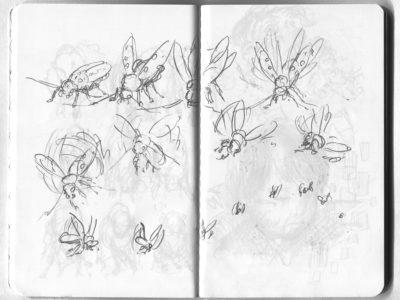 longhorn beetle flight