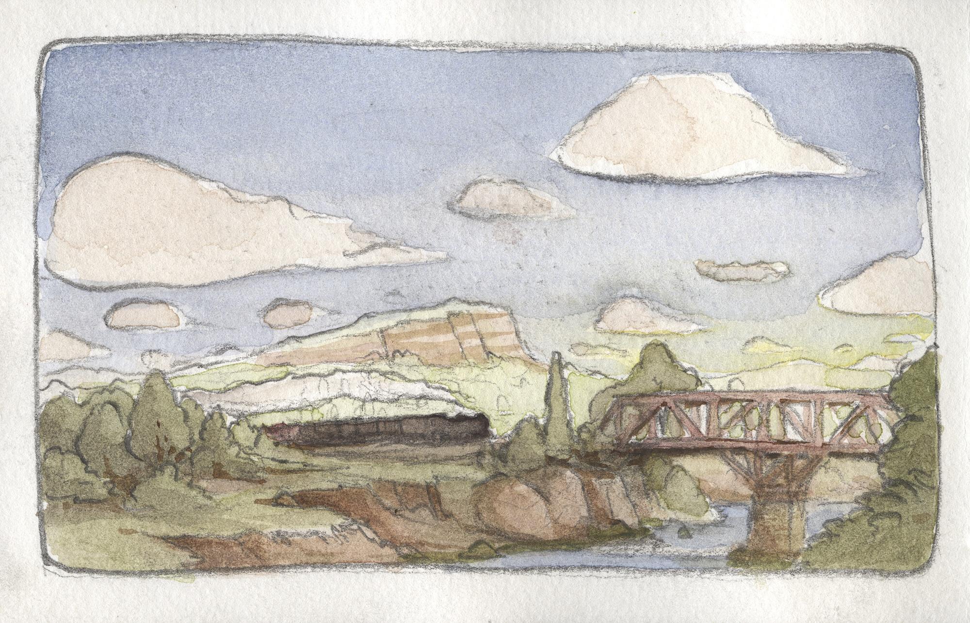 train across the bridge