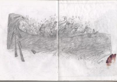 back side wave drawing