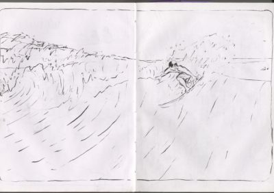 surfing drawing