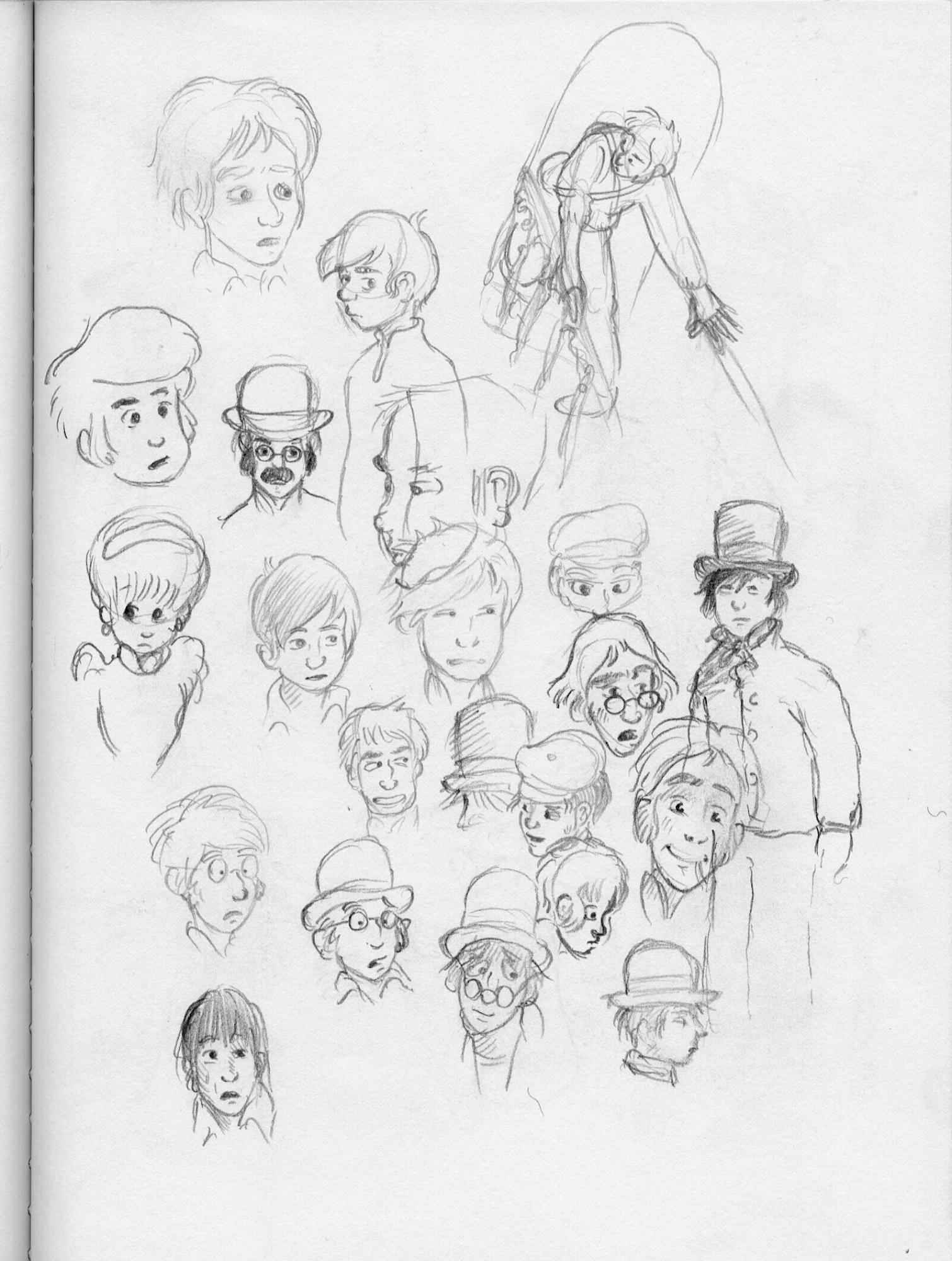 head drawings