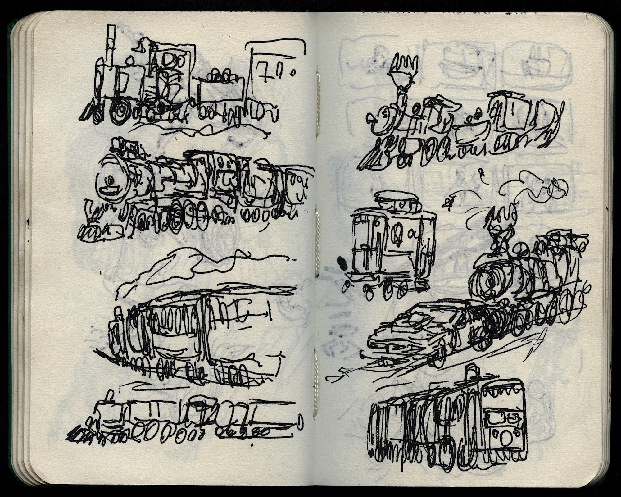 engine doodles