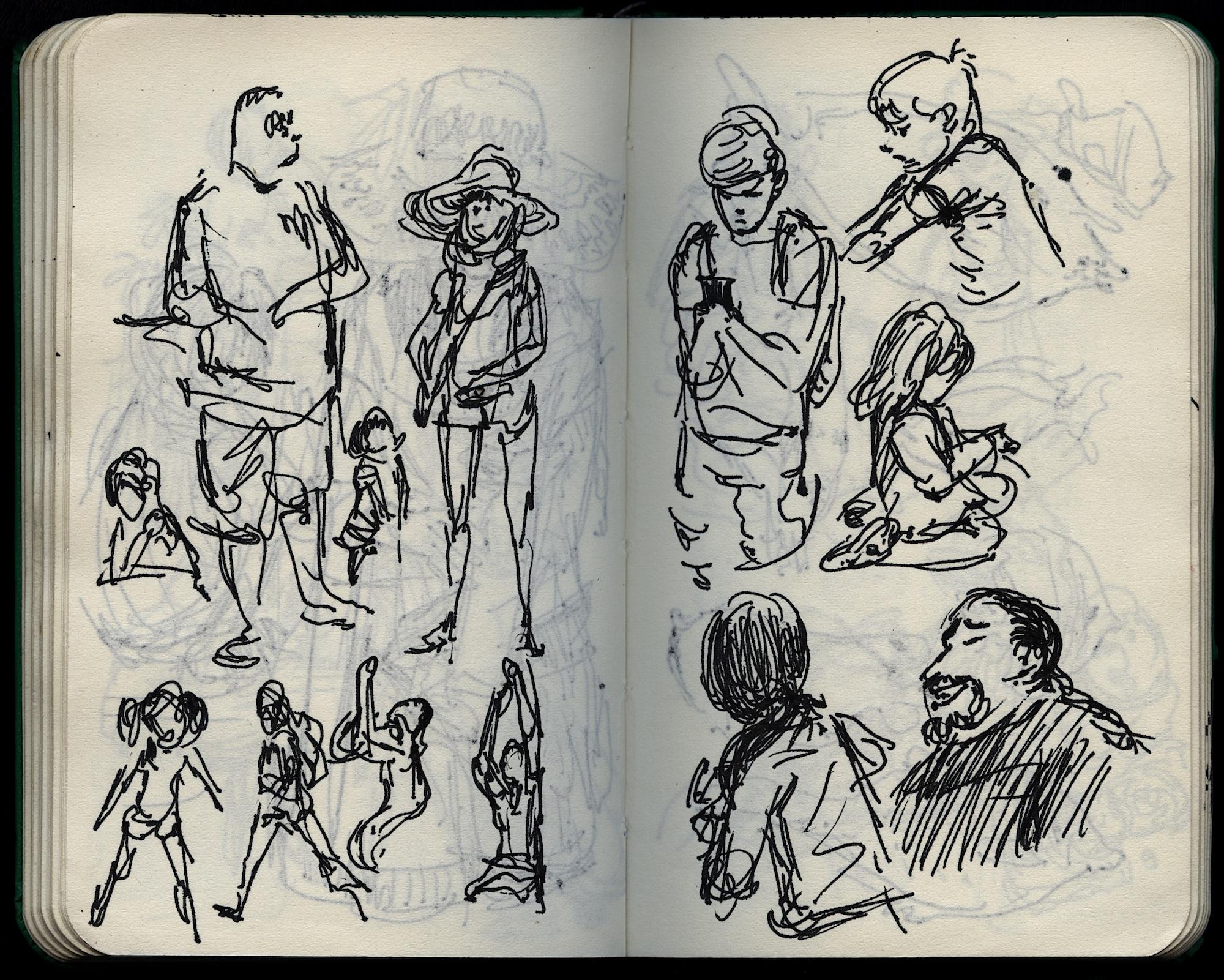 paople drawing