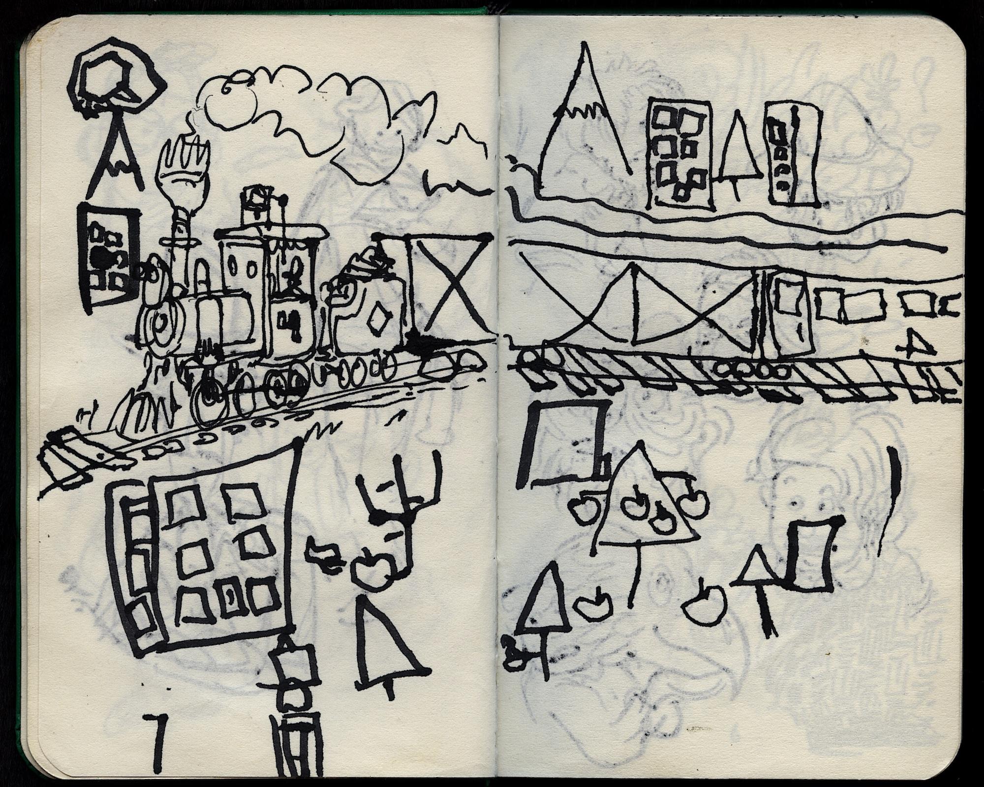 train and blocks