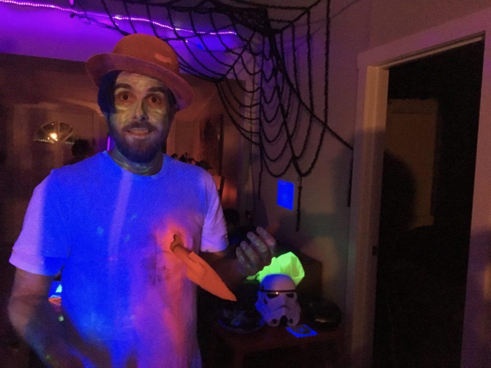 blacklight halloween party zombie