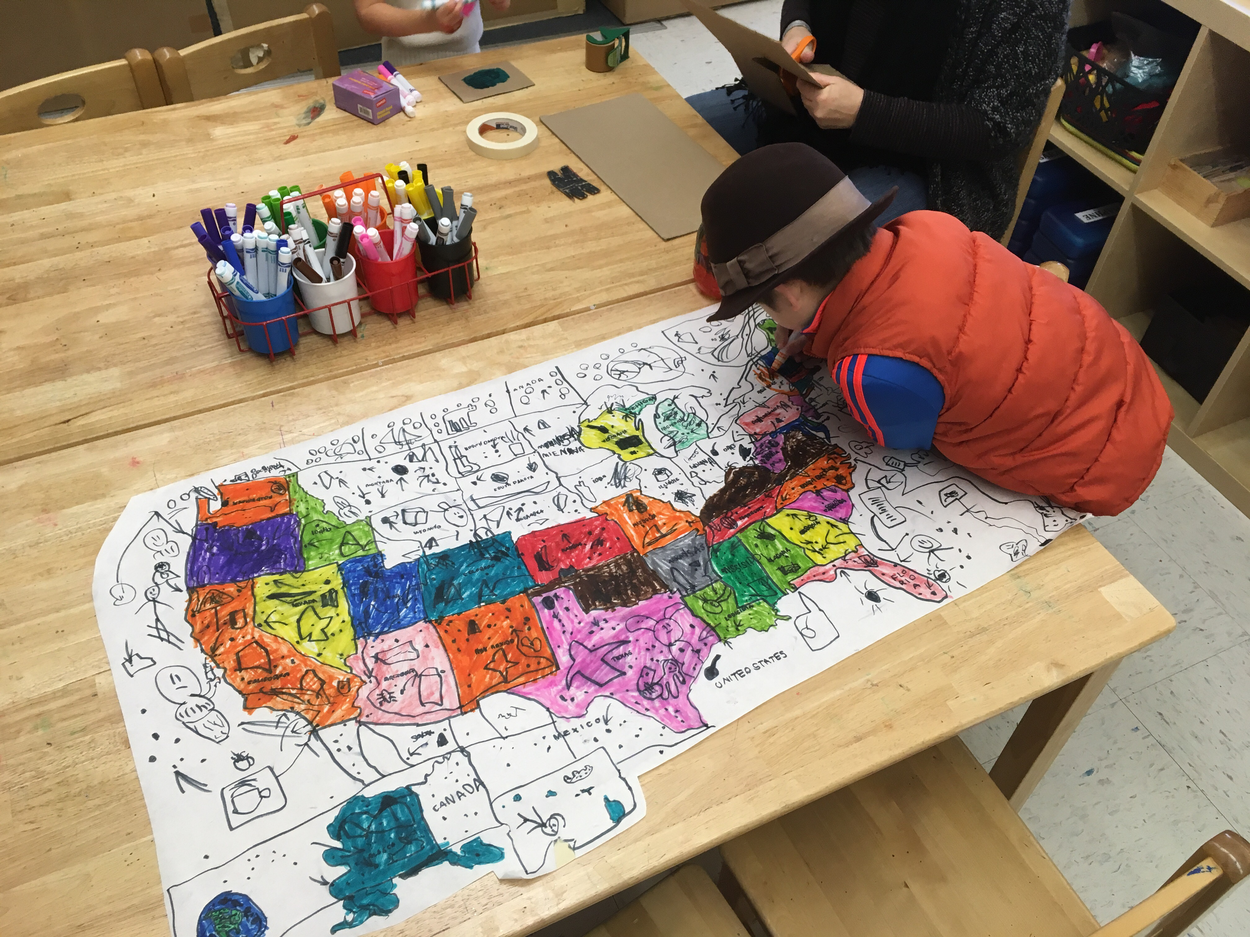 Preschool map making
