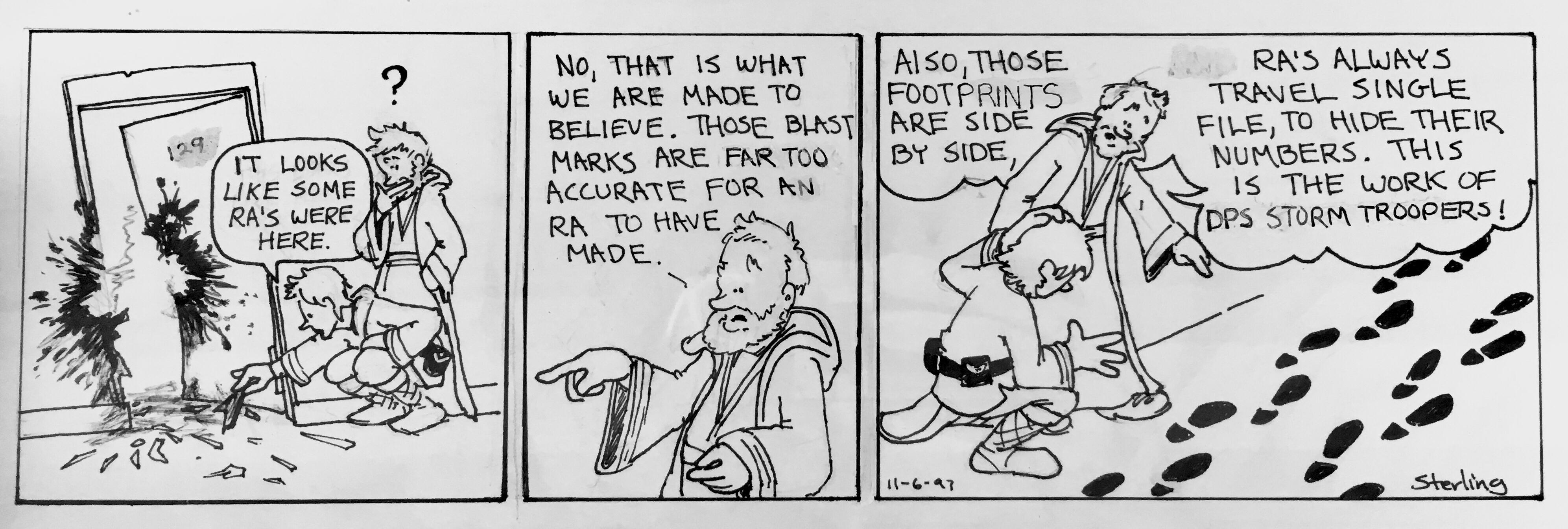 Luke and obi talk about blast marks